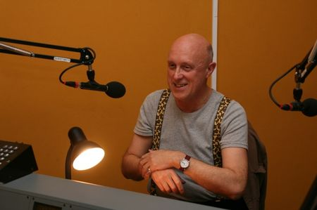 Judge being interviewed for Resonance FM